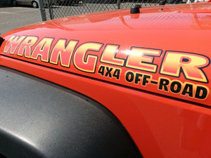 Orange hood decals shown
