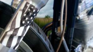 Tactical / Subdued American Flag - Motorcycle Fork Decals  - 2pc set