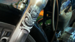 Tiki - Motorcycle Fork Decals  - 2pc set
