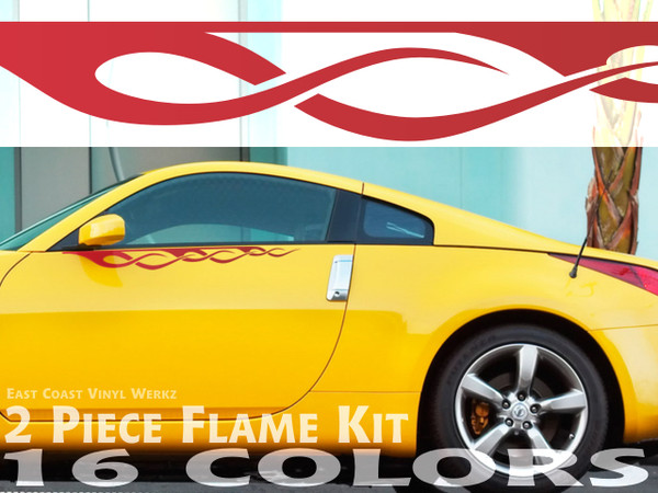 2pc Pinstripe Crossover Flames Pick Your Color East