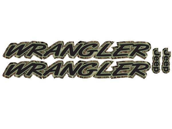 Wrangler Hood Decals Mossy Oak Camo 2pc Set