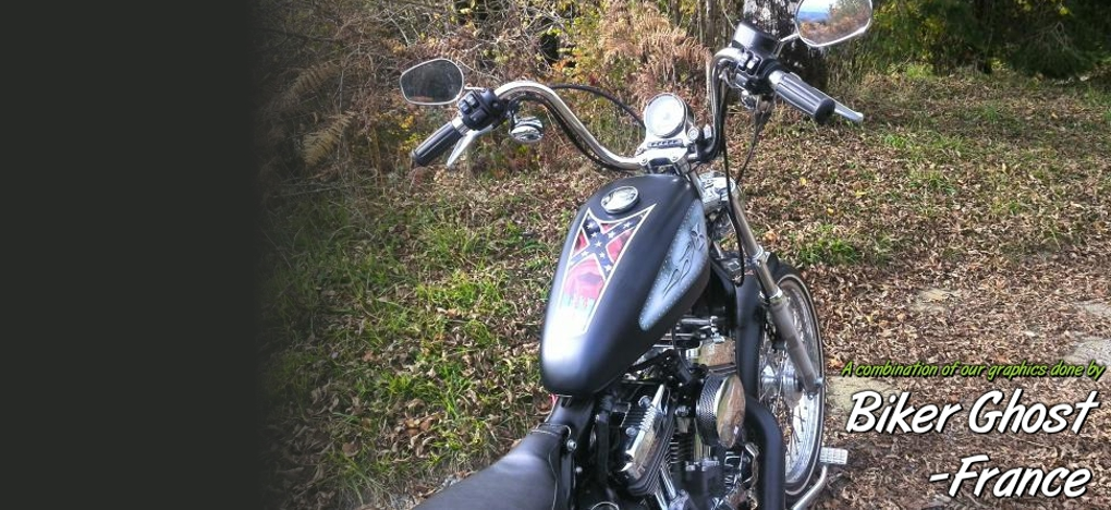 Rat Rod Harley sportster tank decals