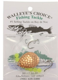 Walleye's Choice Walleye Spinner Rig - #4 Hammered Copper