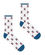Exchange Socks - White and Navy