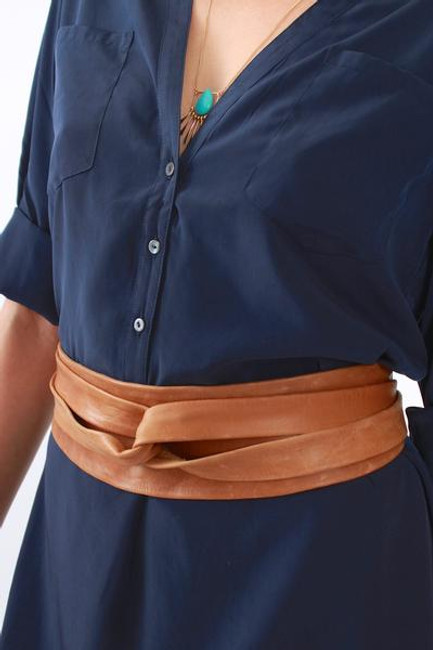 Ada OBI Wrap Belt [Cognac / Tan]