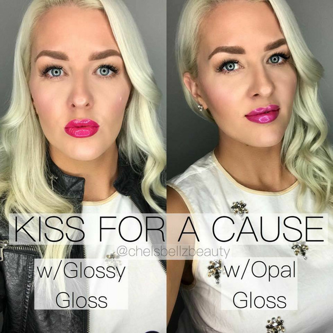 LIPSENSE SALE 15% OFF KISS FOR A CAUSE LIPSENSE WITH OPAL GLOSS