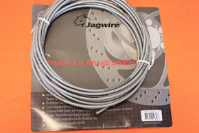 Jagwire Rattler S Hydraulic Brake Hose: Silver, per foot