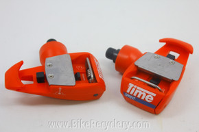 Vintage Time TBT Sprint Clipless Pedals, Red Near Mint