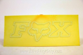 Fox Racing Transfer Decal: White