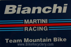 Vintage Bianchi Team Martini Mountain Bike Racing Sticker FREE SHIPPING
