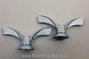 "NOS Vintage Bicycle Wingnuts: Verma Bronze, Front 5/16"" Pair (2)"