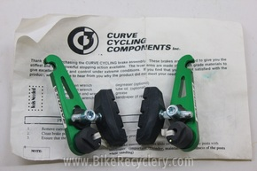 NOS Curve Racing Jaws Cantilever Brake: Green Anodized, Piranah