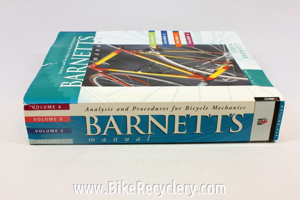 barnett s analysis procedures for bicycle maintenance 5th edition rh bikerecyclery com Glenn's Complete Bicycle Manual barnett bike manual