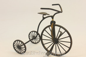 "Wire Bicycle Decoration: 3-Wheeled Antique Tricycle, 4.5""x4"""