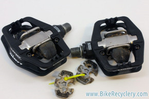 Look S-Track MTB Clipless Pedals: W/ Cleats & Cages