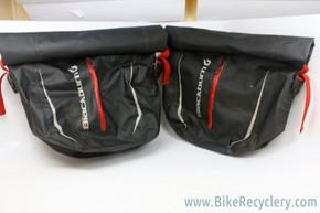 Blackburn Barrier Waterproof Roll Top Rear Pannier Set: Black, KlickFix Mounting System, Black (Pair)
