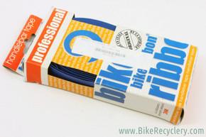NOS/NIB Ambrosio Bike Ribbon Professional Bar Tape: Faux Leather, Blue
