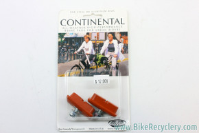 Kool Stop Continental Brake Pads: Salmon, For Classic Urban Bikes & Skyway Tuff ACS (pair)