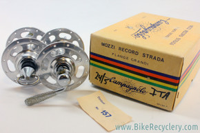 NIB/NOS Campagnolo Nuovo Record Strada High Flange Hubset: 24H - 120mm - Flat Blade QR- PRISTINE