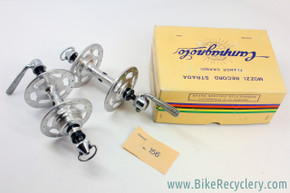 NIB/NOS Campagnolo Nuovo Record Strada High Flange Hubset: 32/24H - 120mm - Flat Blade QR- PRISTINE