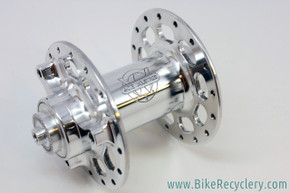 NOS/NIB White Industries RX / Rockshox Front Hub: High Flange - Polished - For Rim Brake or 3-Hole Rockshox Disc Brake