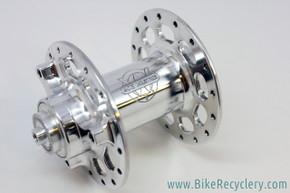 NOS/NIB White Industries RX / Rockshox Front Hub: High Flange - Polished - For Rim Brake or 3-Hole Rockshox Disc Brake