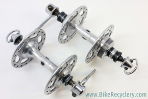 "1st Gen Campagnolo "" No Record"" Nuovo Record Strada High Flange Hubset: 36H - 120mm - Flat Blade QR's - Early 1960's - RARE!"