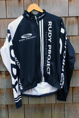Project Rudy Thermal Cycling Racing Jacket: Black/White - Fall/Winter - SMALL