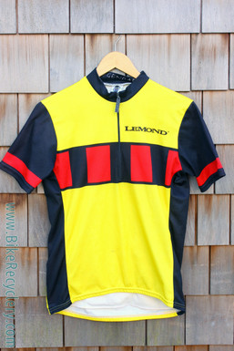 Vintage Greg Lemond Team Jersey: 1990's - Yellow/Black/Red - Medium (Near Mint)