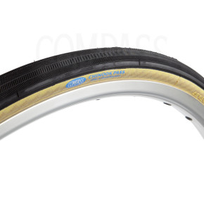 Compass Chinook Pass 700x28c Tires: Extralight Casing - Tubeless Ready - Tan (New, Pair)