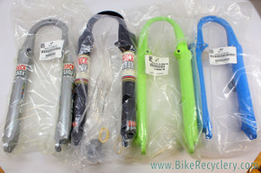"Lot of 4 Mixed NOS/NIB Vintage Rockshox SID / Judy Lowers: 26"" - 1999-2004, 80mm - Disc /V Brake - Judy XL Plum, Judy/SID Silver SL / Blue / Rollin Green"