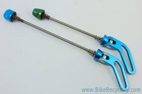 Critical Racing QR Skewers: Turquoise - 1990's - RARE