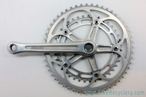 Vintage Shimano Dura Ace 2nd Gen Drive-Side Crank Arm: FC-7110 170mm - 52/39t Original Chainrings