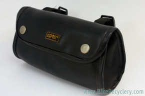 Vintage ESPRIT Handlebar / Saddle Bag: Black Pleather