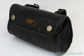 Vintage ESPRIT Handlebar / Saddle Bag: Black Pleather