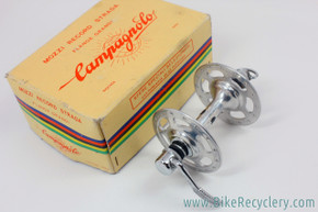 NIB/NOS Campagnolo Nuovo Record Strada High Flange FRONT Hub: 32H - Curved Blade QR- PRISTINE