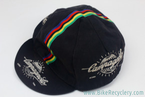 Campagnolo Cycling Cap: Black - World Champion Stripes