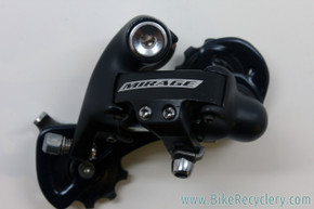 NOS Campagnolo Mirage 9 Speed Rear Derailleur: Mid Cage - Black (Take-Off)