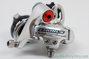 Campagnolo Chorus 9 Speed Rear Derailleur: Red Ano Pivot Bolt (Near Mint)