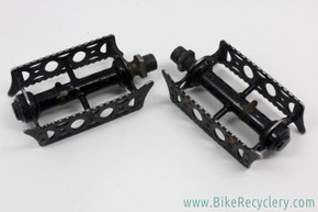 Brampton Racing Rat Trap Pedals: Pre-war 1920's 1930's - Black - RARE