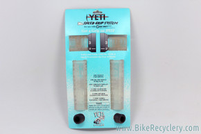 NIB/NOS ODI / Yeti Speed Grips, Gripshift Grips, & Yeti End Plugs: Rare Clear / Translucent - Vintage 1990's