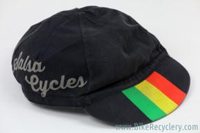 Vintage Salsa Cycles Cycling Cap: 1990's - Rasta / Black (EXC+)
