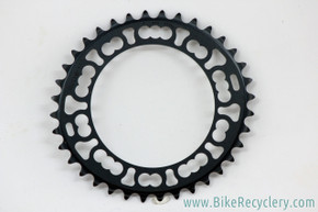 Oval & Milled Chainring: 36t x 110mm - Black - Unique! (Barely Used)