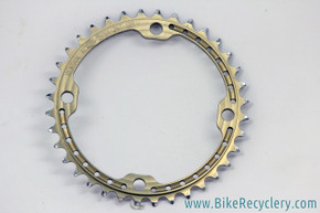 Renthal SR4 Chainring: 36t - 120mm BCD to run SRAM 2x10 as 1x10  - Gold (near mint)