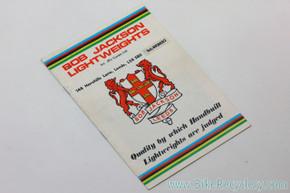 1970's Bob Jackson Cycles Catalog:  RARE! (near mint)
