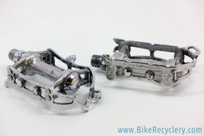 1960's Campagnolo Record Pedals w/ Strap Loop: #1037 (Perfect Bearings)