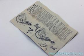 Huret Jubilee Gruppo Manual w/ Diagrams & Part numbers: 1960's ?
