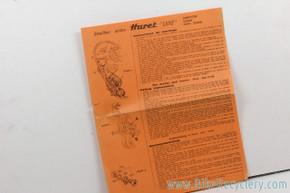 Huret Luxe / Alvit Gruppo Manual w/ Diagrams & Part numbers: 1960's ?