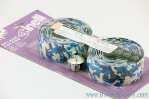 NIB/NOS Cinelli Splash Camo Cork Handlebar Tape: Vintage 1980's / 1990's - Blue / Purple / White