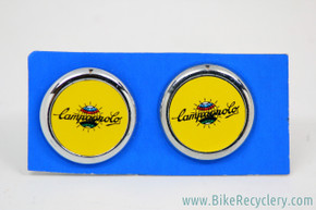 NIB/NOS Campagnolo Handlebar End Plugs: Yellow - World Logo